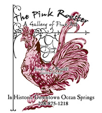 The Pink Rooster & Gallery Garbo Logo